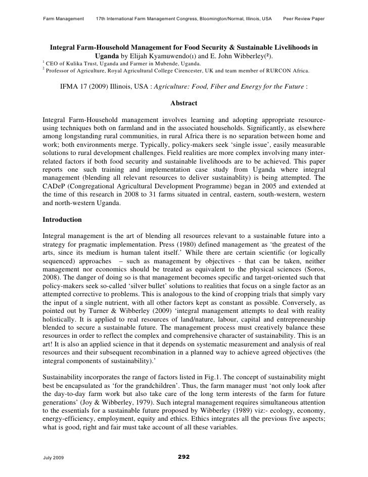 Farm Management        17th International Farm Management Congress, Bloomington/Normal, Illinois, USA   Peer Review Paper ...