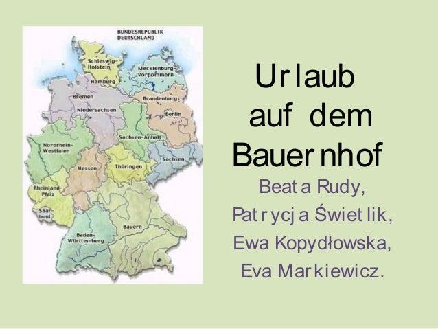 Urlaubauf demBauernhofBeat a Rudy,Pat rycj a Świet lik,Ewa Kopydłowska,Eva Markiewicz.