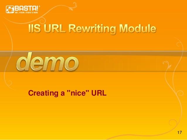 """17 Creating a """"nice"""" URL"""