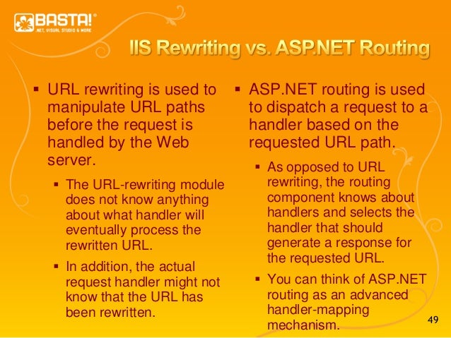 49  URL rewriting is used to manipulate URL paths before the request is handled by the Web server.  The URL-rewriting mo...