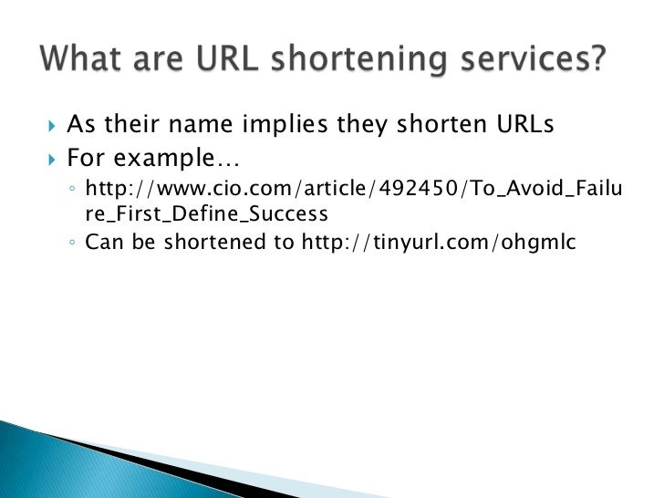 Url Shortening Services Slide 3