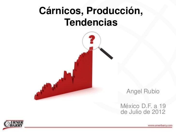 Cárnicos, Producción,     Tendencias                  Angel Rubio                México D.F. a 19                de Julio ...