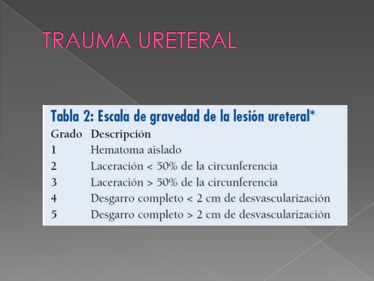  En presencia de macrohematuria y/o de  microhematuria esnecesario realizar una uretrografía  retrógrada. Los pacientes ...