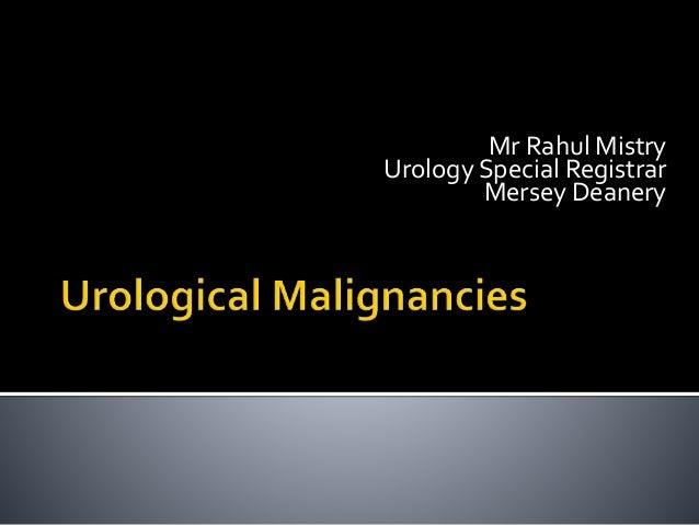 Mr Rahul Mistry Urology Special Registrar Mersey Deanery