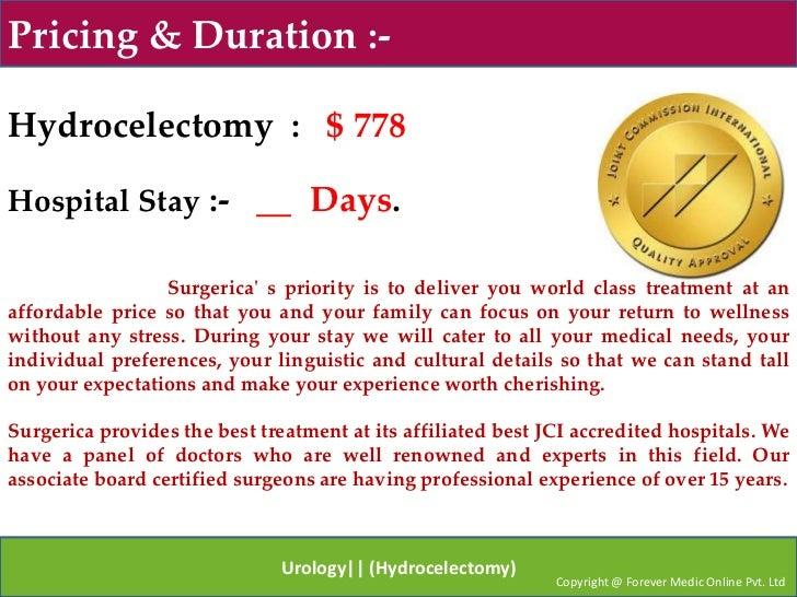 Urology (hydrocelectomy)