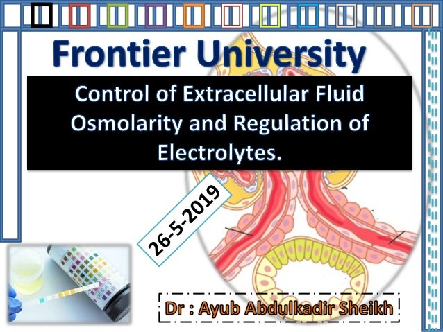 CONTROL OF EXTRACELLULAR FLUID OSMOLARITY AND SODIUM CONCENTRATION • Regulation of extracellular fluid osmolarity and sodi...