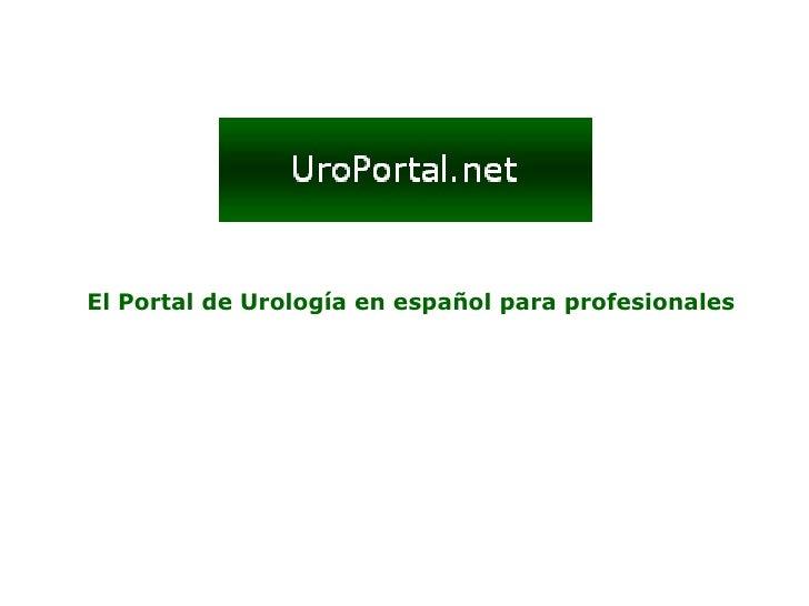 El Portal de Urología en español para profesionales