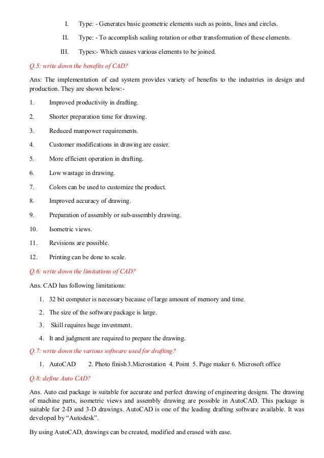 Cad notes - ENGINEERING DRAWING - RGPV,BHOPAL