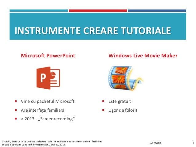 """INSTRUMENTE CREARE TUTORIALE Microsoft PowerPoint  Vine cu pachetul Microsoft  Are interfaţa familiară  > 2013 - """"Scree..."""