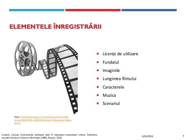  Licențe de utilizare  Fundalul  Imaginile  Lungimea filmului  Caracterele  Muzica  Scenariul ELEMENTELE ÎNREGISTRĂ...
