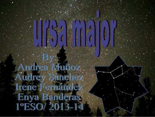 """Ursa major Ursa major (latin: """"larger bear"""";also known as the Great Bear and Charles Wain )is a constellation visible thro..."""