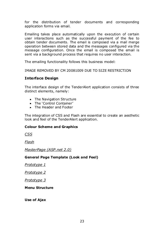 User requirement specification for tender alert website 23 for the distribution of tender pronofoot35fo Choice Image