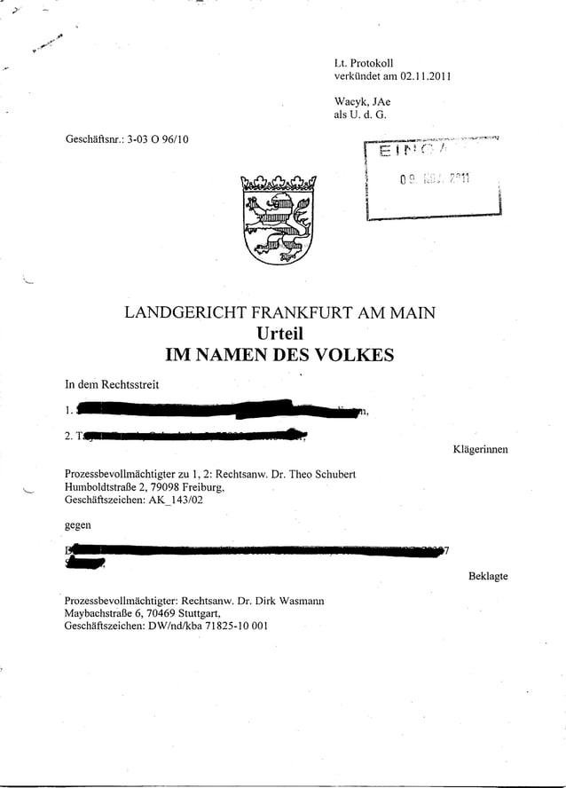 Lt. Protokoll                                                                 verkÜndet am 02.11.2011                     ...