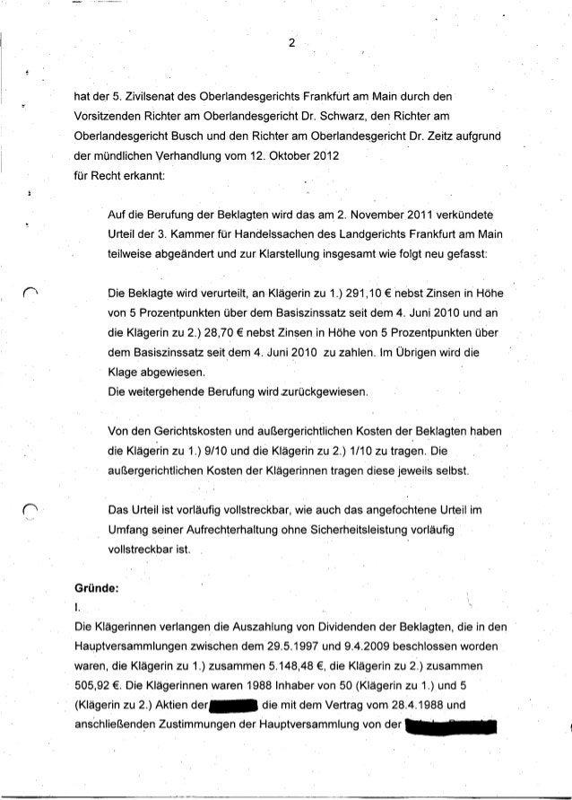 2    hat d~r 5. Zivilsenat des Oberlandesgerichts       Frankfurt am Main durch den-    Vorsitzenden Richter am Oberlandes...
