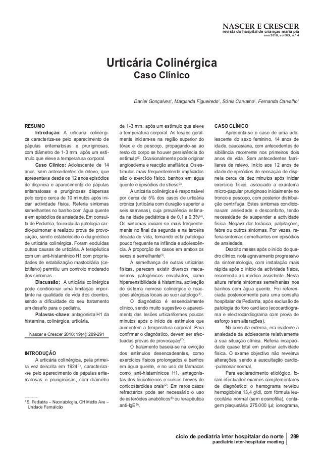 NASCER E CRESCER revista do hospital de crianças maria pia ano 2010, vol XIX, n.º 4 289ciclo de pediatria inter hospitalar...