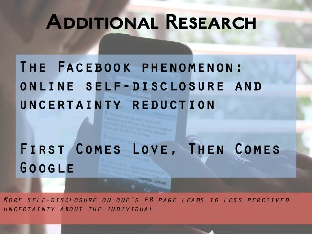Uncertainty reduction theory and online dating