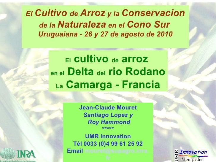 El  Cultivo  de  Arroz  y la  Conservacion  de la  Naturaleza  en el  Cono Sur   Uruguaiana - 26 y 27 de agosto de 2010 El...