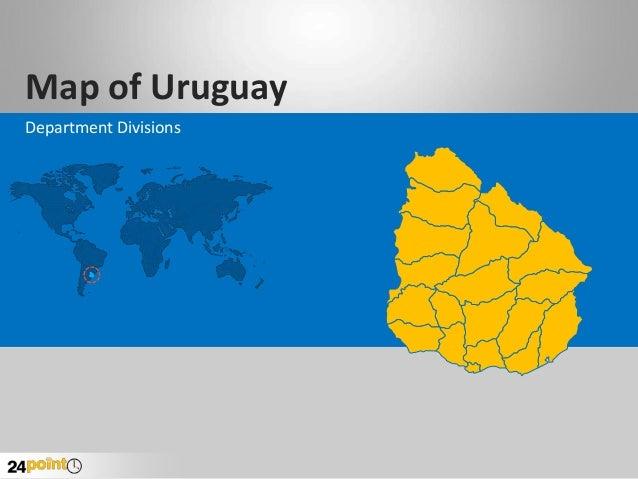 Map of Uruguay Department Divisions