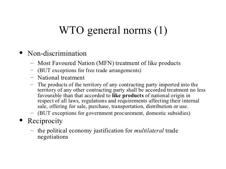 critically evaluate the role of gatt wto Under the law of the world trade organization (wto), governments  the  general agreement on tariffs and trade (gatt) and the world trade  organization,  and be able to critically evaluate the role of expertise and the  international legal.
