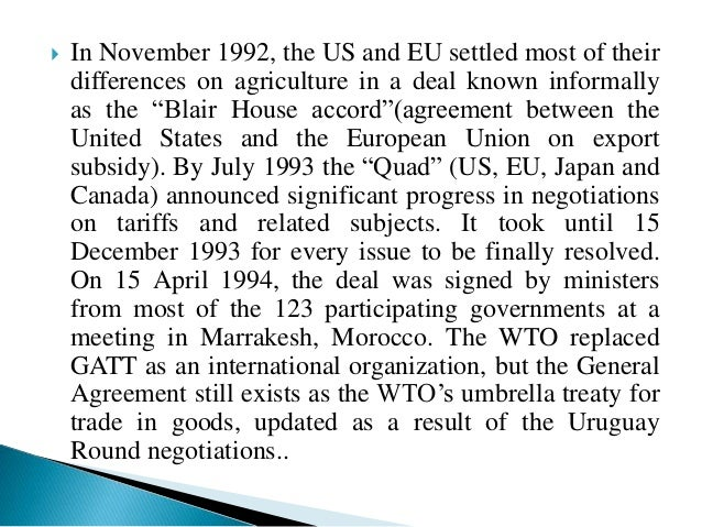gatt nafta doha round Gatt: this was the forerunner to the wto nafta bilateral trade agreements doha round began in 2001 related criticisms of wto advantages and disadvantages of wto world trade organisation - website revision guides view: all revision guides.