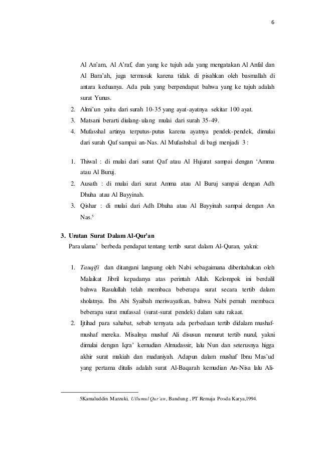 Urutan Surat Dan Ayat Al Quran Asliiiiiii