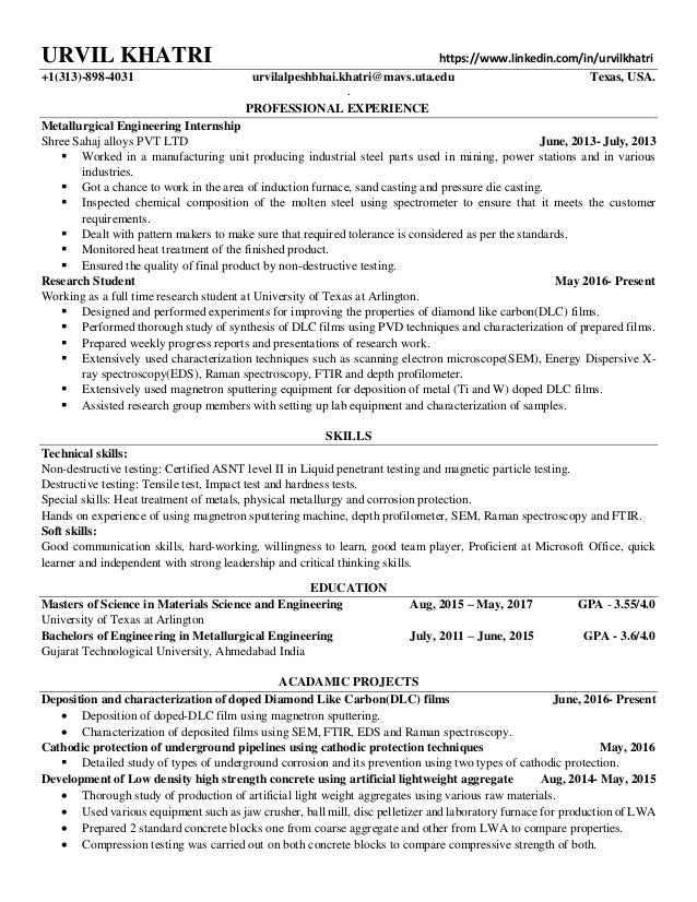 Urvil Khatri Resume Sample