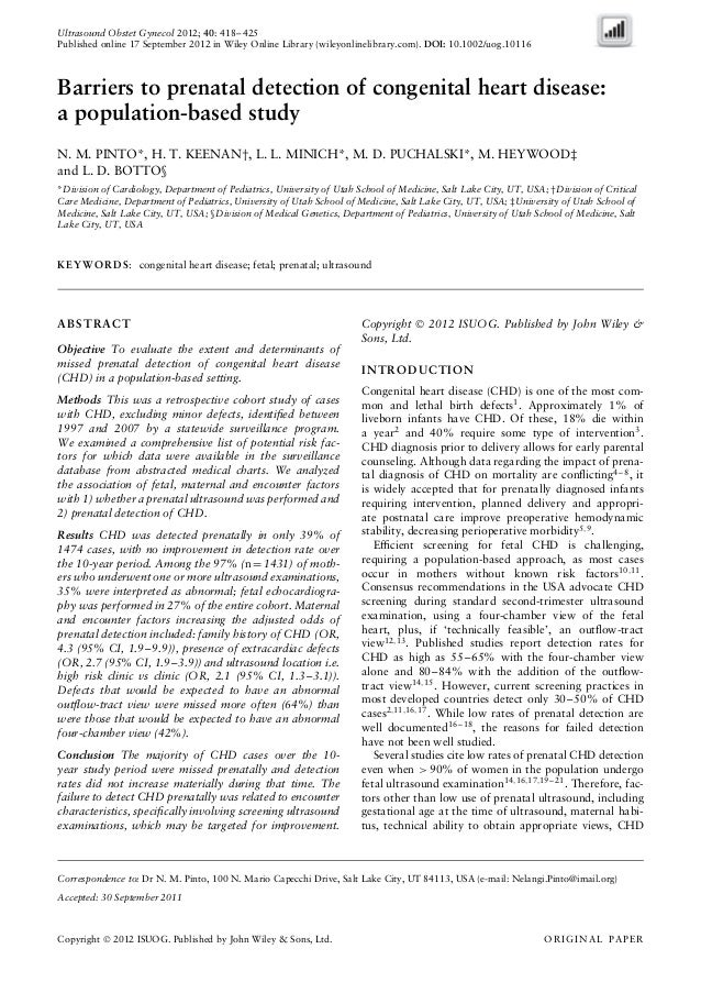 Ultrasound Obstet Gynecol 2012; 40: 418–425 Published online 17 September 2012 in Wiley Online Library (wileyonlinelibrary...