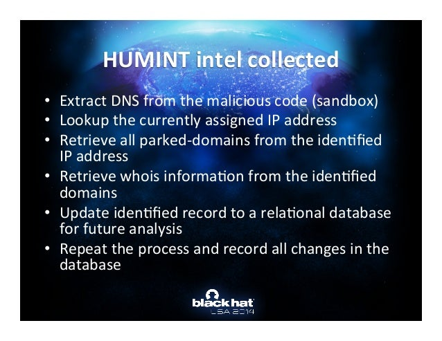 humint ad research paper Humint information can be valuable if the source is credible and validated for example, military attaches are considered one of the best humint sources based on their access to foreign military counterparts.