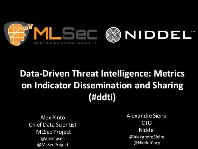 Data-­‐Driven	   Threat	   Intelligence:	   Metrics	    on	   Indicator	   Dissemination	   and	   Sharing	    (#ddti) Ale...