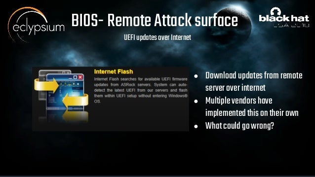 Remotely Attacking System Firmware
