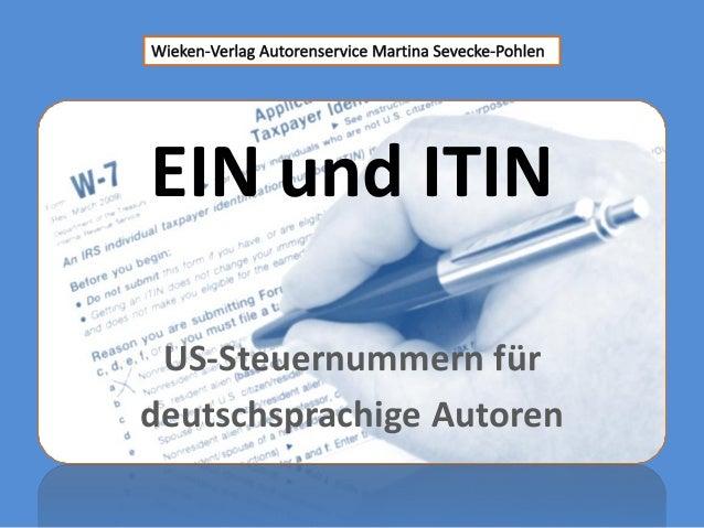 EIN und ITIN US-Steuernummern fürdeutschsprachige Autoren