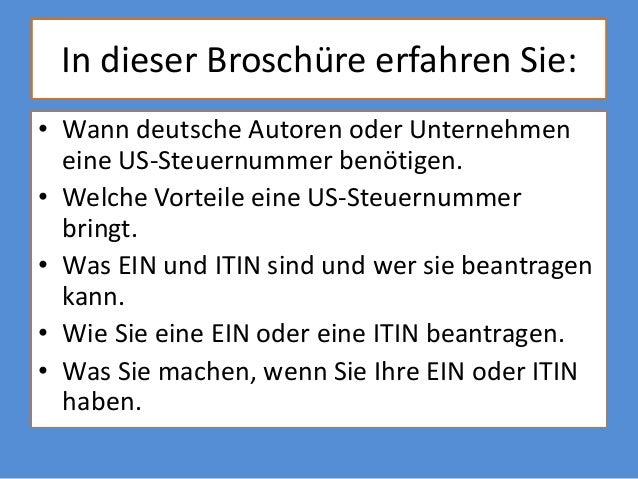 US-amerikanische Steuernummer Slide 2