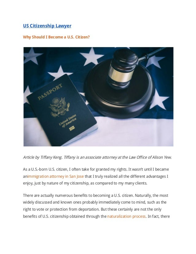 US Citizenship Lawyer: Benefits of Becoming a US Citizen