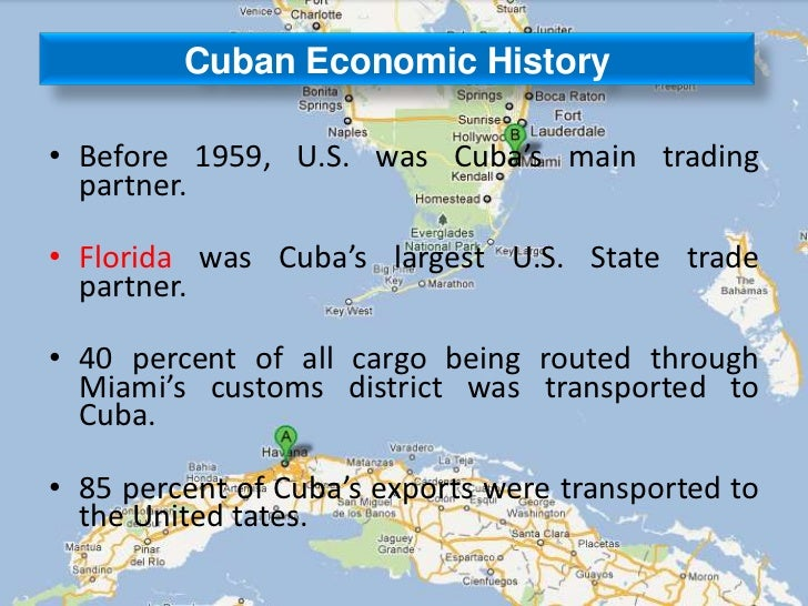 Impact Of US Cuba Relationship On Trade - Us and cuba map