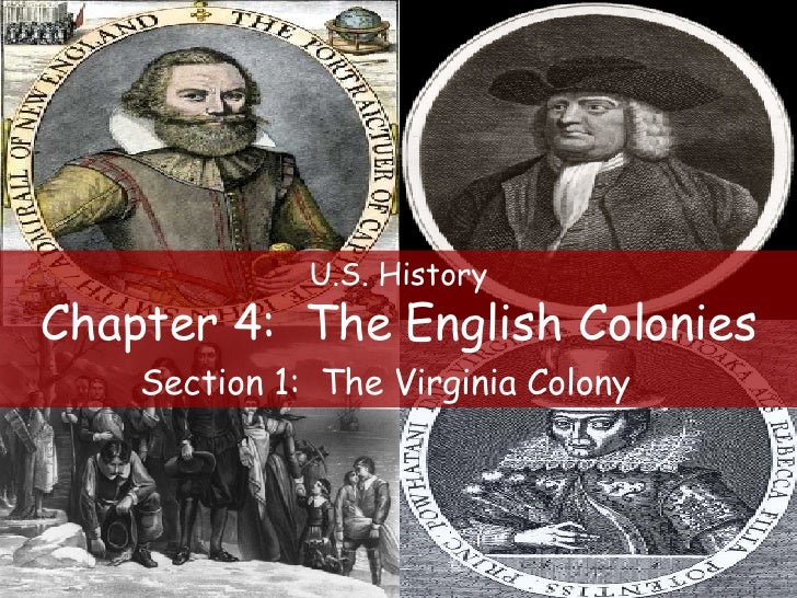 U.S. History Chapter 4:  The English Colonies Section 1:  The Virginia Colony