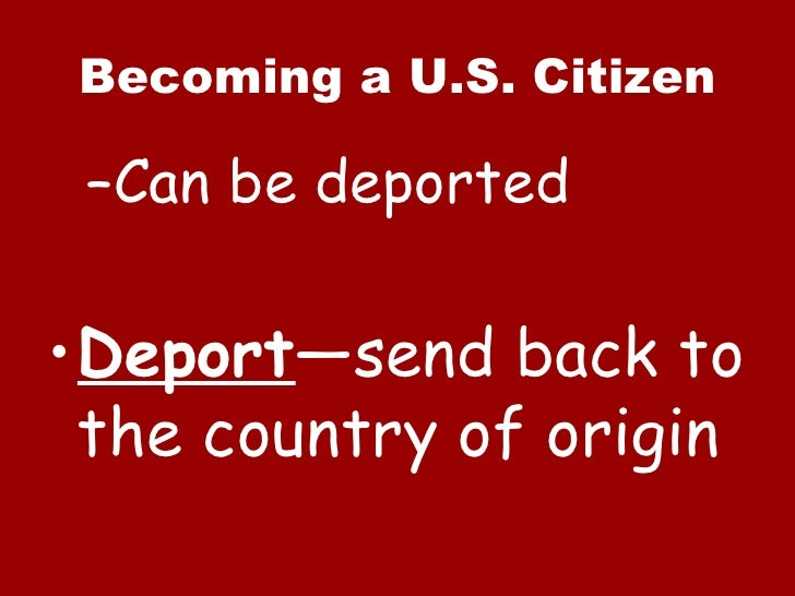 Can A Natural Born Citizen Lose Citizenship