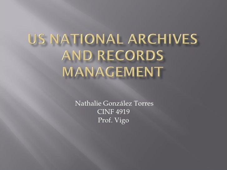 Nathalie González Torres CINF 4919 Prof. Vigo
