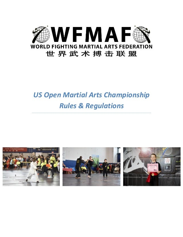 US Open Martial Arts Championship - Rules and Regulations