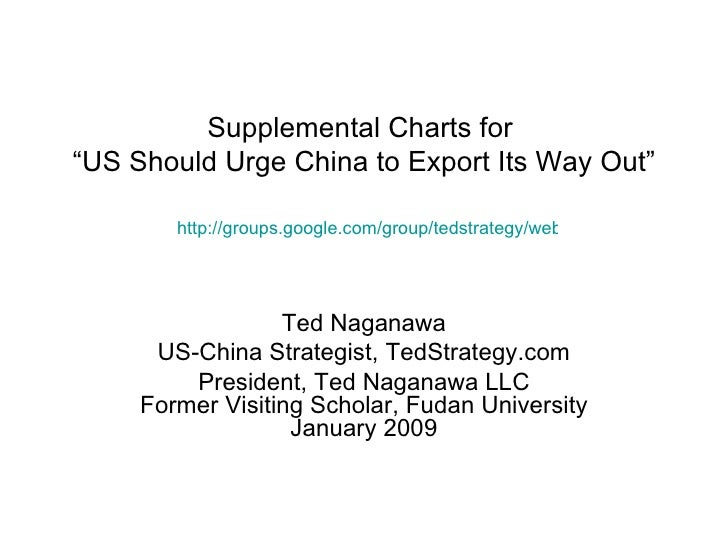 "Supplemental Charts for  ""US Should Urge China to Export Its Way Out"" Ted Naganawa US-China Strategist, TedStrategy.com Pr..."