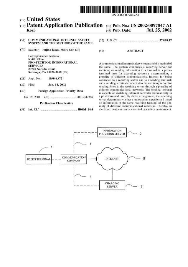 Us2002 0097847(Patent Application Profile)