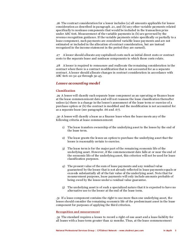 National Professional Services Group   CFOdirect Network – www.cfodirect.pwc.com In depth 5 .26 The contract consideration...