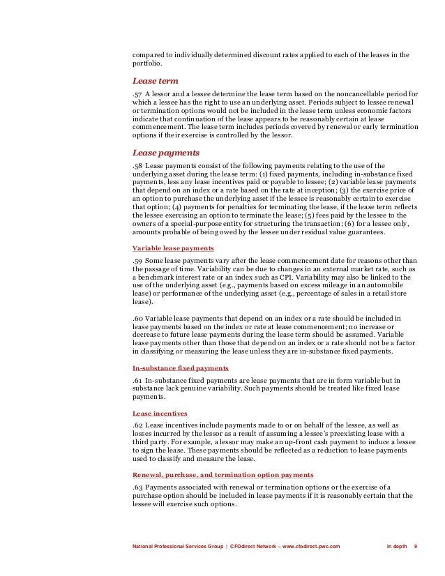 National Professional Services Group   CFOdirect Network – www.cfodirect.pwc.com In depth 9 compared to individually deter...