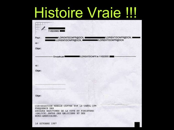 Histoire Vraie !!!