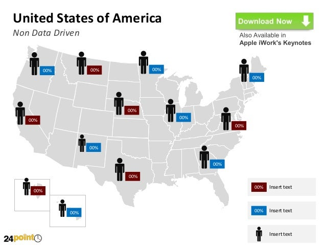 united states of america usa map editable ppt presentation