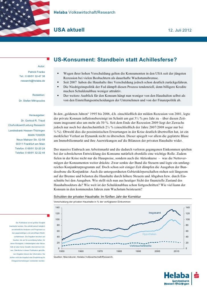 Helaba Volkswirtschaft/Research                                                   USA aktuell                             ...