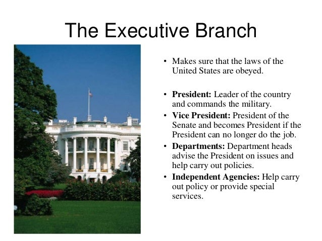 us executive branch of government An overview of the executive branch, including a look at the role and responsibilities of the president and the cabinet.
