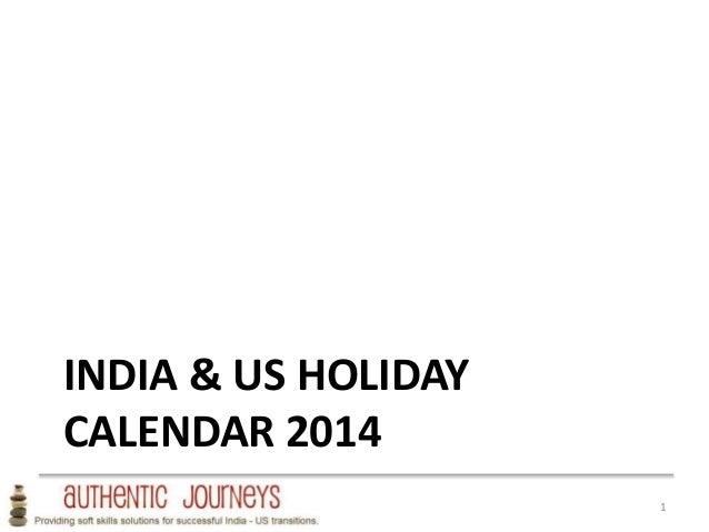 INDIA & US HOLIDAY CALENDAR 2014 1