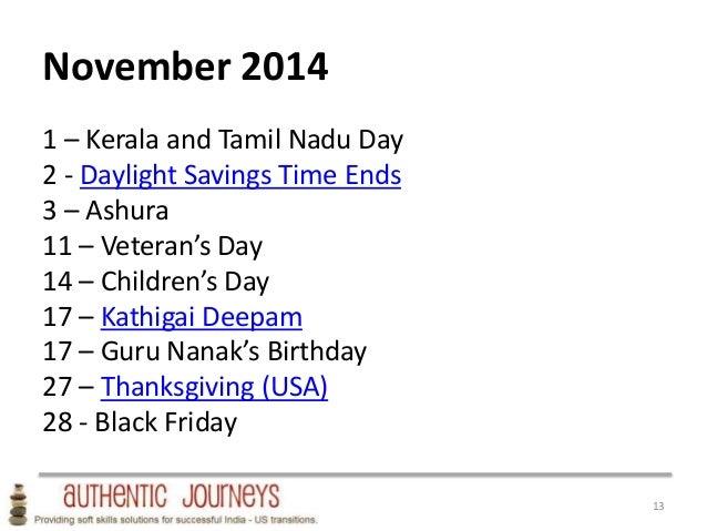 Usa India Holiday Planning Calendar 2014
