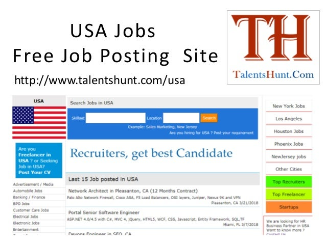 Usa jobs, free job posting in usa