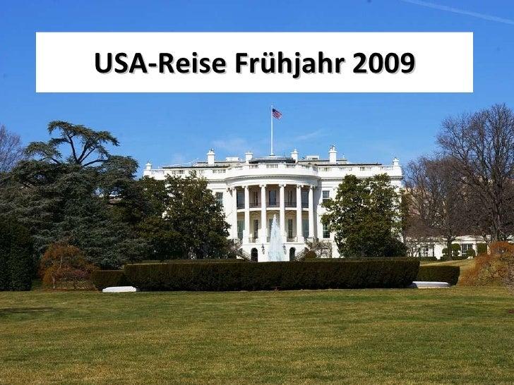 USA-Reise Frühjahr 2009